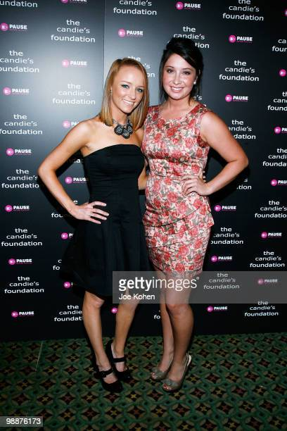 TV personality Maci Bookout and Bristol Palin attend The Candie's Foundation Event To Prevent at Cipriani 42nd Street on May 5 2010 in New York City