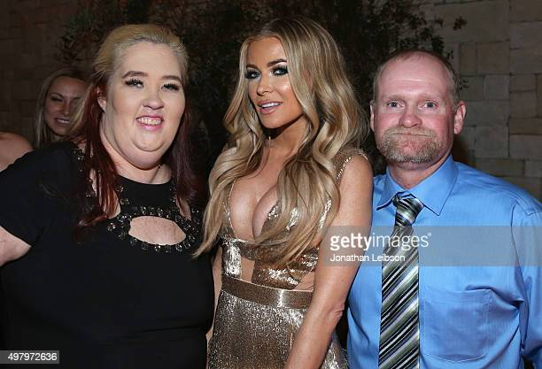 TV personality Mama June model Carmen Electra and TV personality Sugar Bear attend the WE tv premiere of 'Marriage Boot Camp' Reality Stars and...