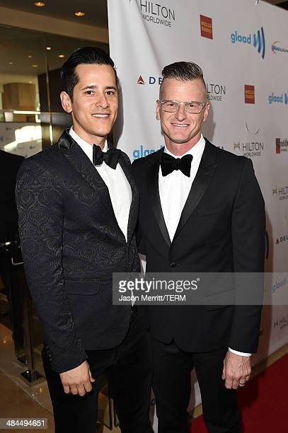TV personality Marc Malkin and Fabian Fuentes attends the 25th Annual GLAAD Media Awards at The Beverly Hilton Hotel on April 12 2014 in Los Angeles...