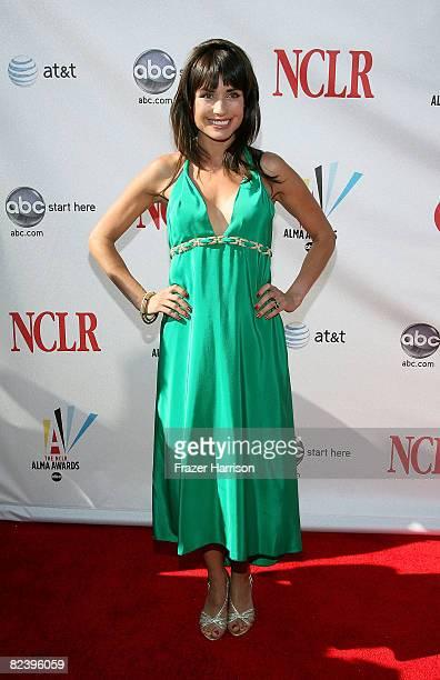 TV personality Marcela Mar arrives at the 2008 ALMA Awards at the Pasadena Civic Auditorium on August 17 2008 in Pasadena California