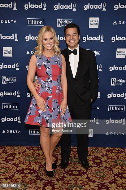TV personality Margaret Hoover and editorinchief of The Daily Beast John Avalon attend the 27th Annual GLAAD Media Awards in New York on May 14 2016...