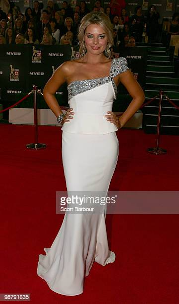 TV personality Margot Robbie arrives at the 52nd TV Week Logie Awards at Crown Casino on May 2 2010 in Melbourne Australia