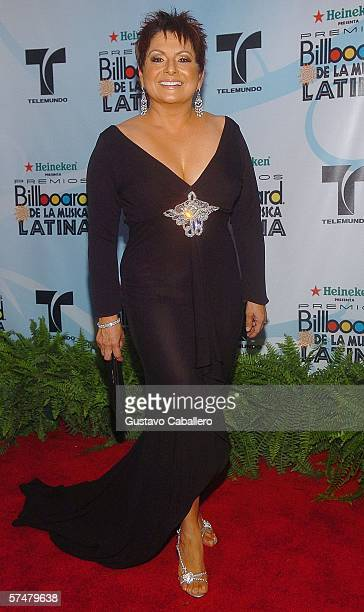 Personality Maria Antonieta Collins arrives for the 2006 Billboard Latin Music Awards at the Seminole Hard Rock Hotel Casino on April 27 2006 in...