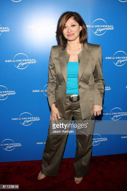 TV personality Maria Bartiromo attends the NBC Universal Experience at Rockefeller Center on May 12 2008 in New York City