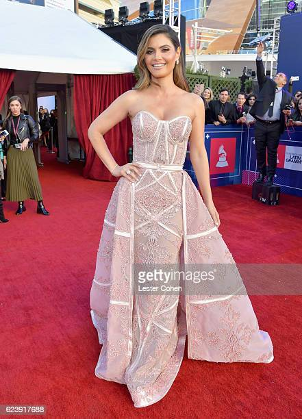 TV personality Maria Chiquinquira Delgado Diaz attends The 17th Annual Latin Grammy Awards at TMobile Arena on November 17 2016 in Las Vegas Nevada