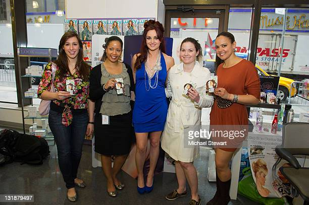 TV personality Maria Kanellis and guests attends FashionOnTheGo hair styling services celebration at Duane Reade on May 6 2011 in New York City