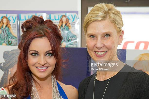 TV personality Maria Kanellis and President / Owner of LJL Inc Lois Sonstegard guests attend FashionOnTheGo hair styling services celebration at...