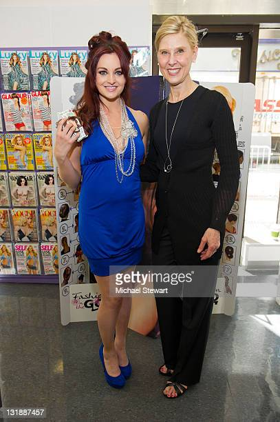 Personality Maria Kanellis and President / Owner of LJL Inc. Lois Sonstegard guests attend Fashion-On-The-Go hair styling services celebration at...
