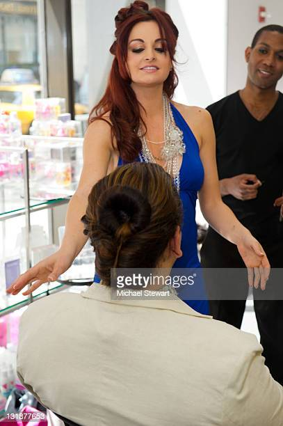 Personality Maria Kanellis attends Fashion-On-The-Go hair styling services celebration at Duane Reade on May 6, 2011 in New York City.
