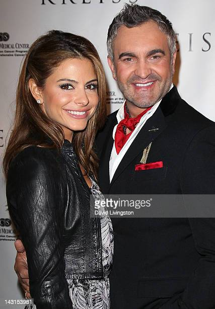 TV personality Maria Menounos and interior designer Martyn Lawrence Bullard attend the Kreiss 75th anniversary celebration at Kreiss on April 19 2012...