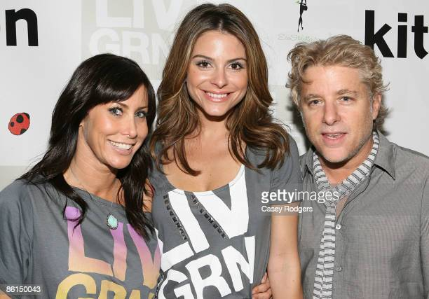TV personality Maria Menounos and LIV GRN founders Rachel Sarnoff and Larry Frazin attend LIV GRN Launch Event in Celebration of Earth Day Hosted by...