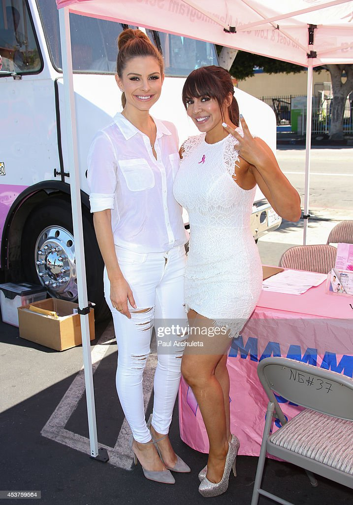 TV Personality Maria Menounos and WWE Diva Layla El shows