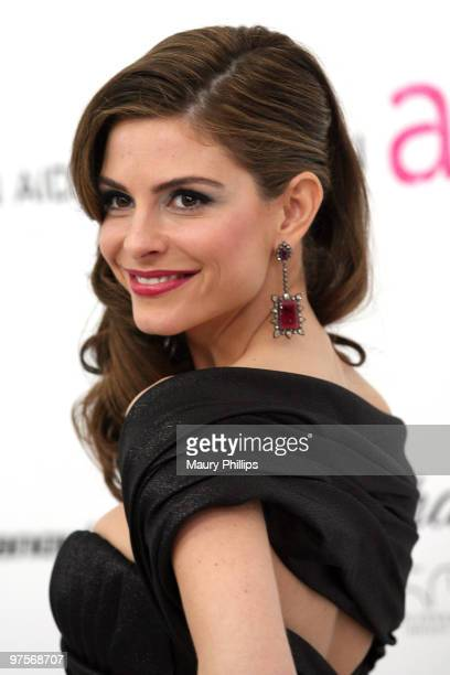 TV personality Maria Menounos arrives at the 18th annual Elton John AIDS Foundation Oscar Party held at Pacific Design Center on March 7 2010 in West...