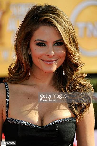 TV personality Maria Menounos arrives at the 18th Annual Screen Actors Guild Awards at The Shrine Auditorium on January 29 2012 in Los Angeles...