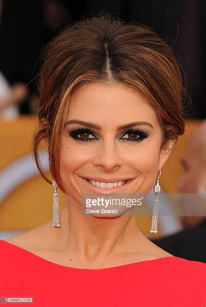 Personality Maria Menounos arrives at the 19th Annual Screen Actors Guild Awards held at The Shrine Auditorium on January 27, 2013 in Los Angeles,...