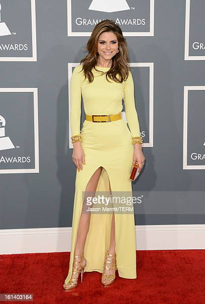 TV personality Maria Menounos arrives at the 55th Annual GRAMMY Awards at Staples Center on February 10 2013 in Los Angeles California