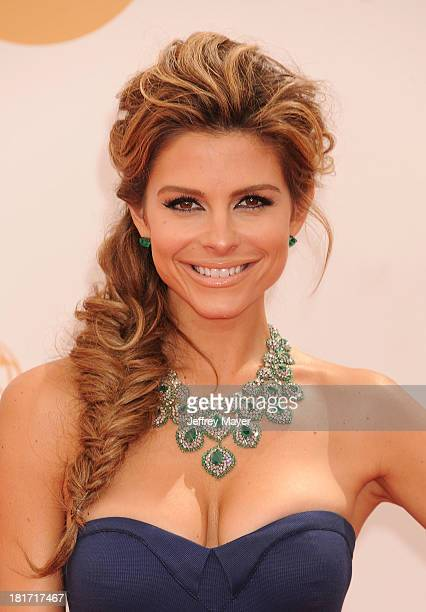 TV personality Maria Menounos arrives at the 65th Annual Primetime Emmy Awards at Nokia Theatre LA Live on September 22 2013 in Los Angeles California