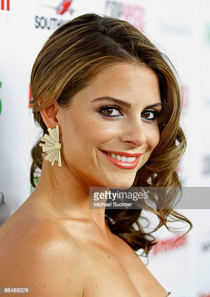 TV personality Maria Menounos arrives at the awards reception during the 11th annual CineVegas film festival held at Rain Nightclub inside the Palms...