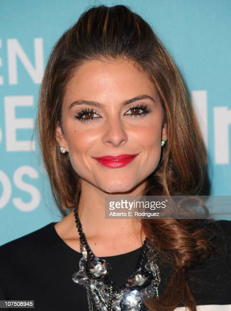 TV personality Maria Menounos arrives at The Hollywood Foreign Press Associationand InStyle's Miss Golden Globe 2011 introduction on December 9 2010...