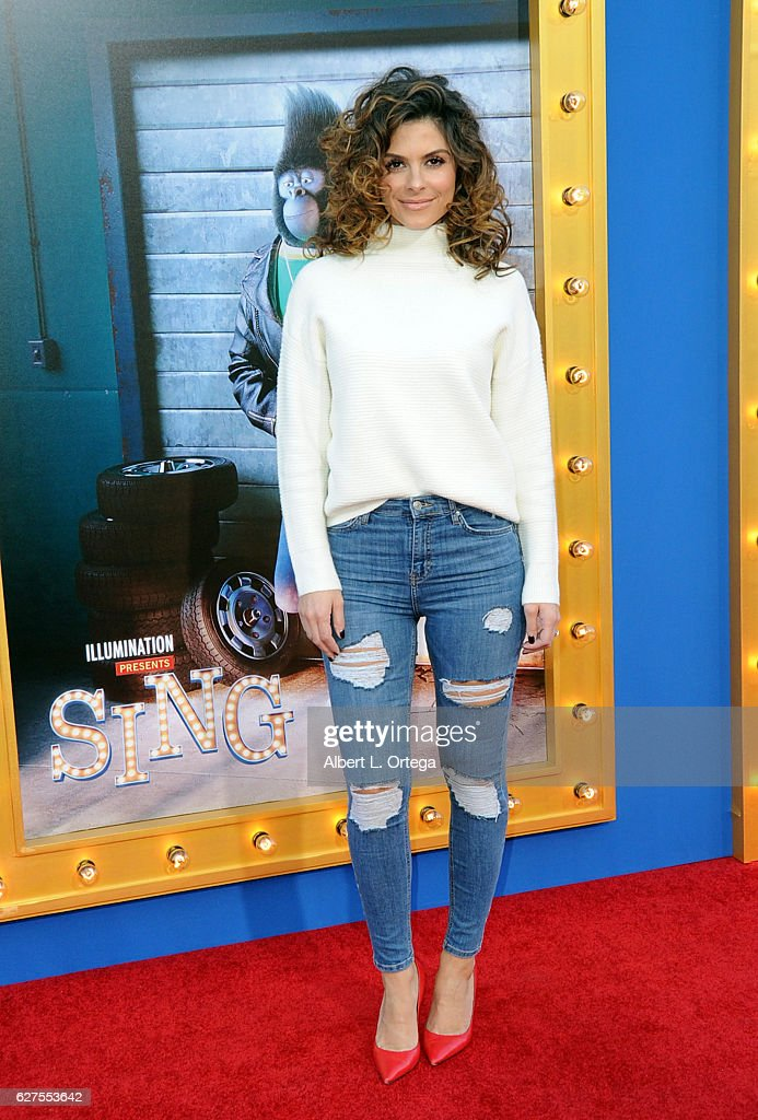 TV personality Maria Menounos arrives at the Premiere Of Universal Pictures' 'Sing' held at Microsoft Theater on December 3, 2016 in Los Angeles, California.