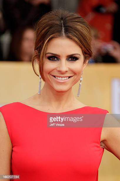 Personality Maria Menounos arrives at the19th Annual Screen Actors Guild Awards held at The Shrine Auditorium on January 27, 2013 in Los Angeles,...