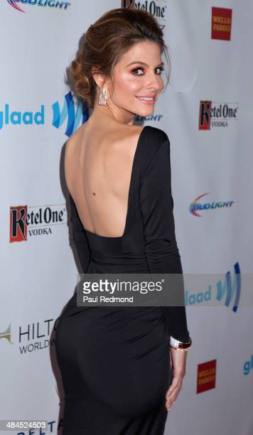 TV personality Maria Menounos arriving at the 25th Annual GLAAD Media Awards at The Beverly Hilton Hotel on April 12 2014 in Beverly Hills California
