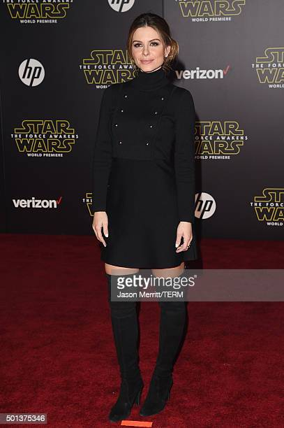 TV personality Maria Menounos attends Premiere of Walt Disney Pictures and Lucasfilm's Star Wars The Force Awakens on December 14 2015 in Hollywood...