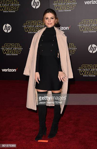 TV personality Maria Menounos attends Premiere of Walt Disney Pictures and Lucasfilm's 'Star Wars The Force Awakens' on December 14 2015 in Hollywood...