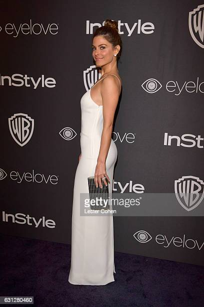 TV personality Maria Menounos attends the 18th Annual PostGolden Globes Party hosted by Warner Bros Pictures and InStyle at The Beverly Hilton Hotel...