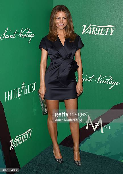 TV personality Maria Menounos attends the 2014 Variety Power of Women presented by Lifetime at Beverly Wilshire Four Seasons on October 10 2014 in...