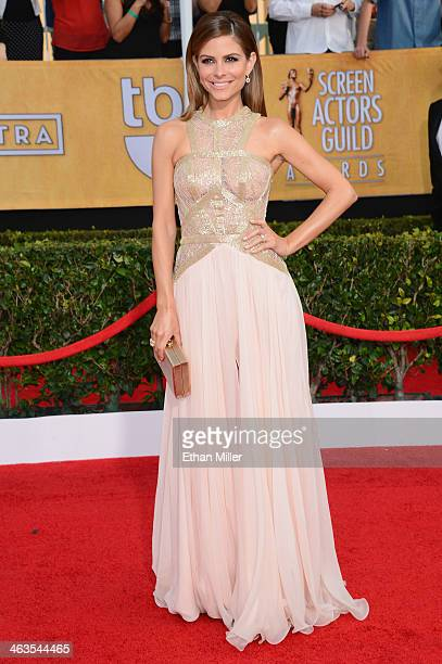 TV personality Maria Menounos attends the 20th Annual Screen Actors Guild Awards at The Shrine Auditorium on January 18 2014 in Los Angeles California