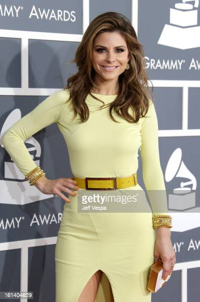 TV personality Maria Menounos attends the 55th Annual GRAMMY Awards at STAPLES Center on February 10 2013 in Los Angeles California