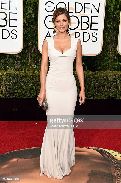 TV personality Maria Menounos attends the 73rd Annual Golden Globe Awards held at the Beverly Hilton Hotel on January 10 2016 in Beverly Hills...