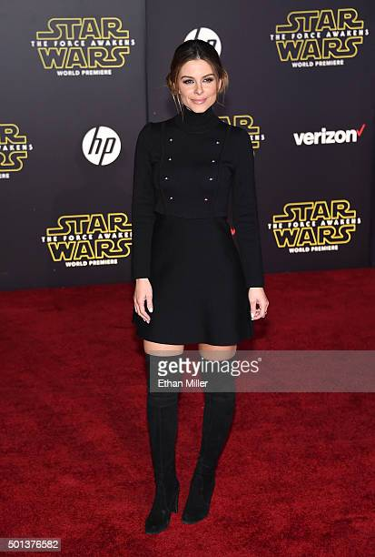 TV personality Maria Menounos attends the premiere of Walt Disney Pictures and Lucasfilm's Star Wars The Force Awakens at the Dolby Theatre on...