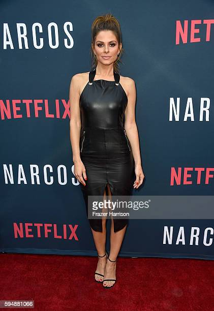 TV personality Maria Menounos attends the Season 2 premiere of Netflix's Narcos at ArcLight Cinemas on August 24 2016 in Hollywood California
