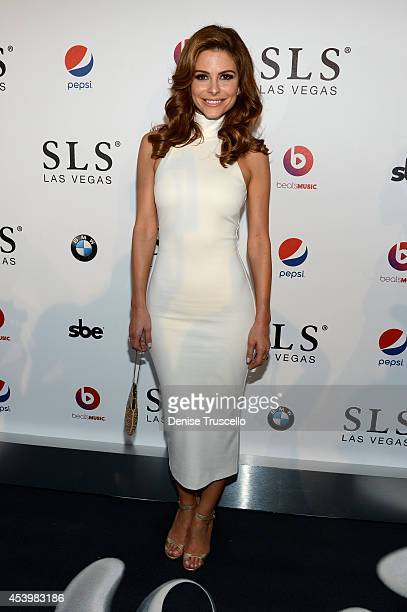 TV personality Maria Menounos attends the SLS Las Vegas grand opening celebration on August 22 2014 in Las Vegas Nevada