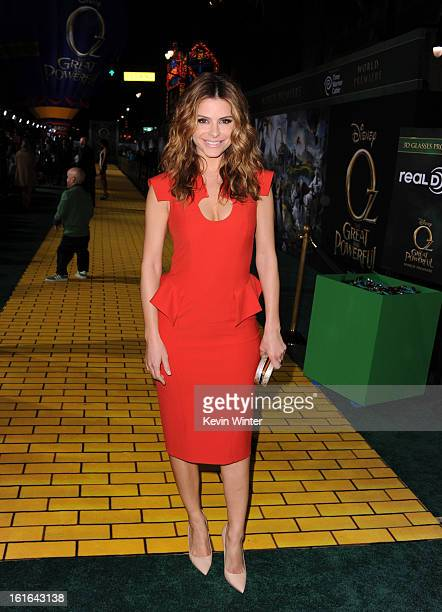 TV personality Maria Menounos attends the world premiere of Walt Disney Pictures' Oz The Great And Powerful at the El Capitan Theatre on February 13...