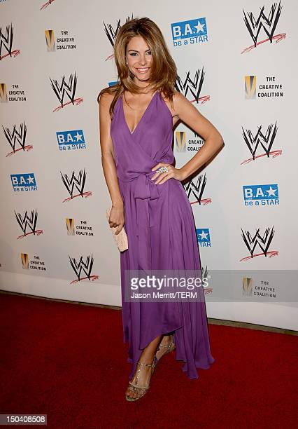 Personality Maria Menounos attends the WWE SummerSlam VIP Kick-Off Party at Beverly Hills Hotel on August 16, 2012 in Beverly Hills, California.