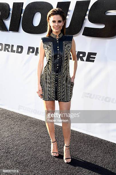 TV personality Maria Menounos attends Universal Pictures' Furious 7 premiere at TCL Chinese Theatre on April 1 2015 in Hollywood California