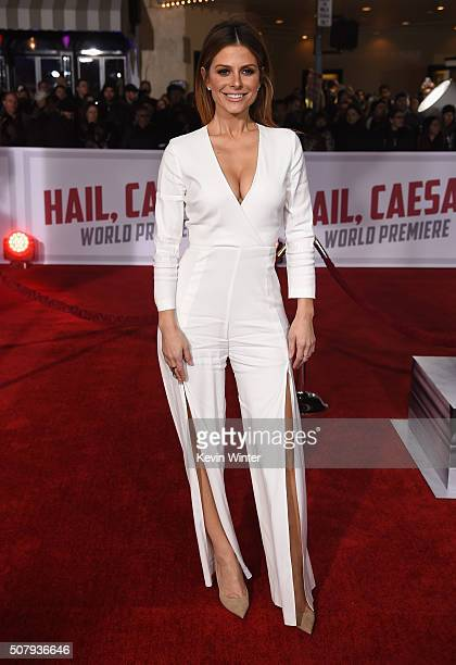 """Personality Maria Menounos attends Universal Pictures' """"Hail, Caesar!"""" premiere at Regency Village Theatre on February 1, 2016 in Westwood,..."""