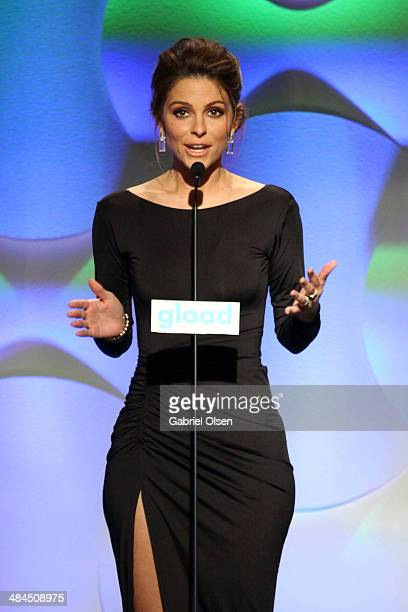 TV personality Maria Menounos onstage during the 25th Annual GLAAD Media Awards at The Beverly Hilton Hotel on April 12 2014 in Beverly Hills...