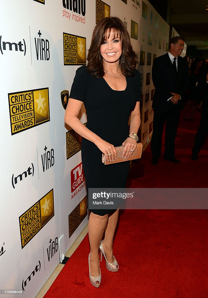 TV Personality Marie Osmond arrives at Broadcast Television Journalists Association's third annual Critics' Choice Television Awards at The Beverly Hilton Hotel on June 10, 2013 in Los Angeles, California.