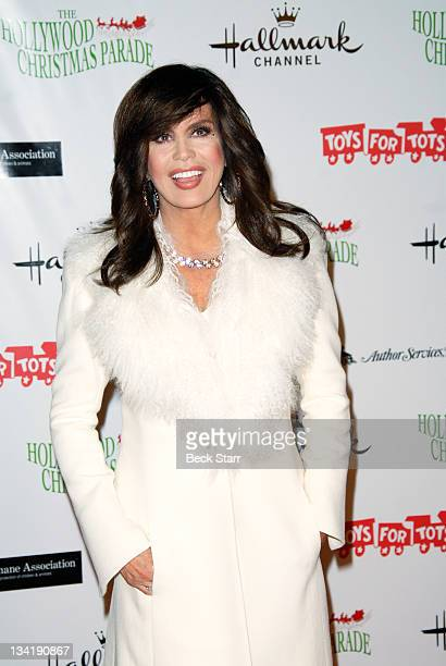 TV personality Marie Osmond arrives at The 80th Anniversary Hollywood Christmas Parade benefiting Marine Toys For Tots on November 27 2011 in...