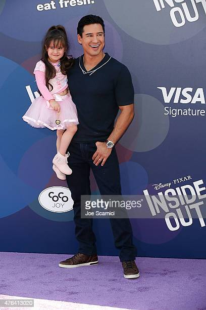 "Personality Mario Lopez and Gia Francesca Lopez attend Disney/Pixar's ""Inside Out"" Los Angeles Premiere at the El Capitan Theatre on June 8, 2015 in..."