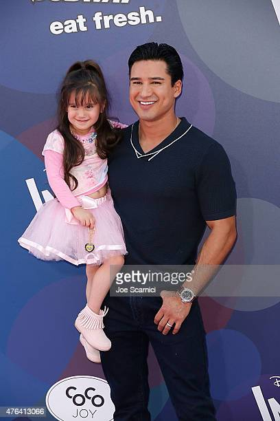 TV personality Mario Lopez and Gia Francesca Lopez attend Disney/Pixar's Inside Out Los Angeles Premiere at the El Capitan Theatre on June 8 2015 in...