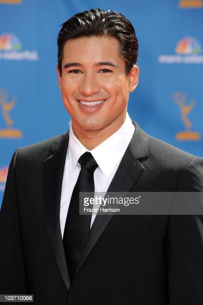 Personality Mario Lopez arrives at the 62nd Annual Primetime Emmy Awards held at the Nokia Theatre LA Live on August 29 2010 in Los Angeles California