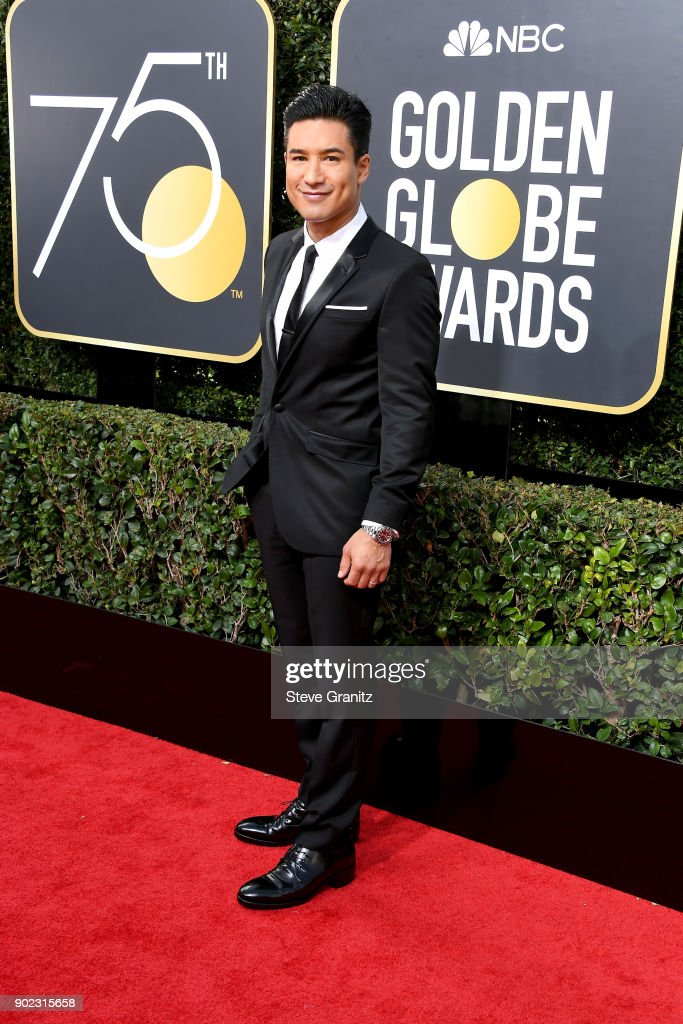 TV personality Mario Lopez attends The 75th Annual Golden Globe Awards at The Beverly Hilton Hotel on January 7, 2018 in Beverly Hills, California.