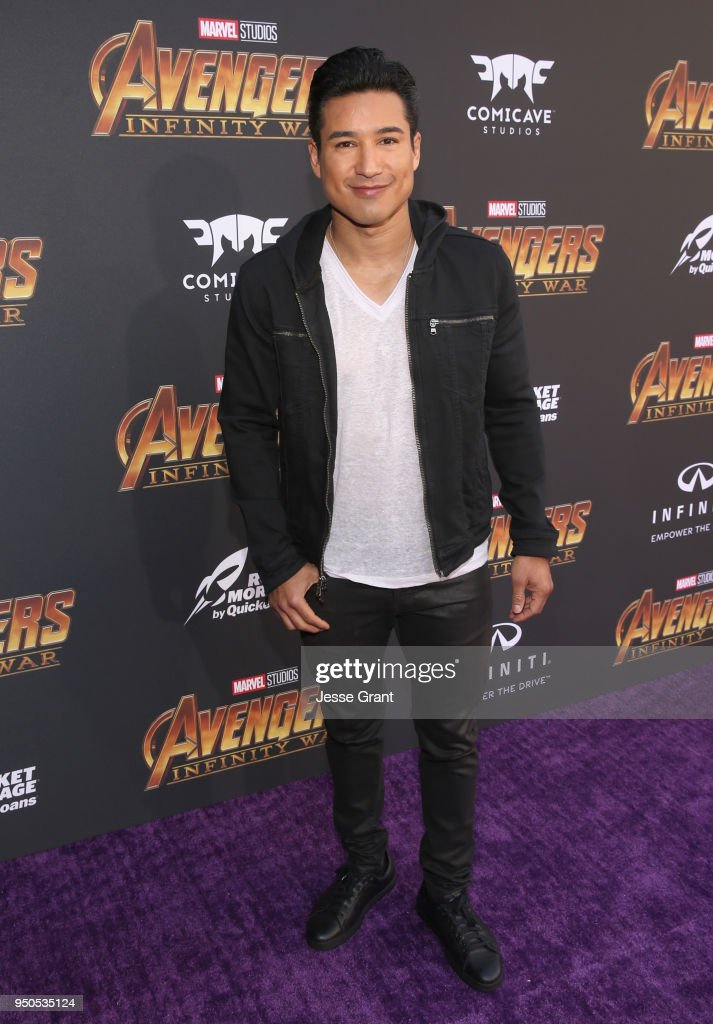 TV personality Mario Lopez attends the Los Angeles Global Premiere for Marvel Studios' Avengers: Infinity War on April 23, 2018 in Hollywood, California.