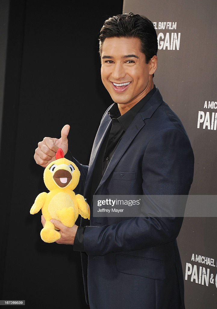 TV Personality Mario Lopez attends the 'Pain & Gain' premiere held at TCL Chinese Theatre on April 22, 2013 in Hollywood, California.