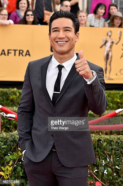 TV personality Mario Lopez attends TNT's 21st Annual Screen Actors Guild Awards at The Shrine Auditorium on January 25 2015 in Los Angeles California...